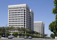 Modern Corporate Office Buildings. For lease in office park Stock Photos
