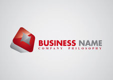 Modern corporate vector logo Stock Images