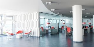 Modern corporate workspace royalty free illustration