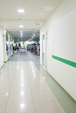 Modern corridor in fitness hall Royalty Free Stock Photography