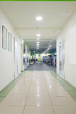 Modern corridor in fitness hall Royalty Free Stock Images