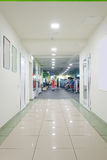 Modern corridor in fitness hall Stock Images