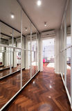 Modern corridor interior with mirror wardrobe doors.  Stock Photography