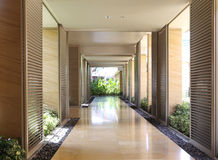 Modern corridor interior modern. Corridor interior Royalty Free Stock Images