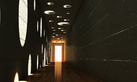 Modern corridor Stock Photography