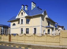 Modern cottage in Omsk. Russia Royalty Free Stock Photography
