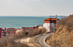 Modern cottages for rent in Black Sea summer resort, Bulgaria. Royalty Free Stock Photo