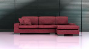 Modern Couch. A computer rendering of a red couch Stock Photos