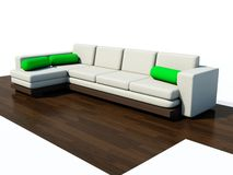 Modern couch. Isolated on white Royalty Free Stock Photos