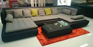 Modern couch furniture with modern table Royalty Free Stock Photography