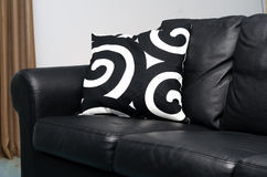 Black couch Royalty Free Stock Images