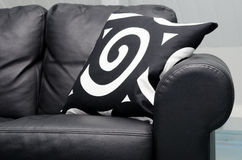 Black couch Royalty Free Stock Image