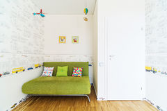 Modern couch with pillows Stock Photo