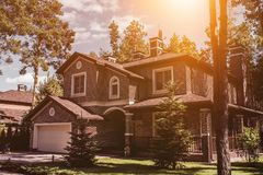 Modern country house Royalty Free Stock Photos