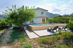 Modern country house in Sicily Stock Photo