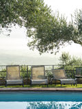 Modern country resort with swimming pool Stock Photography