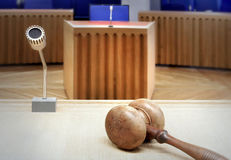 Modern courtroom. Interior of an empty modern courtroom royalty free stock images