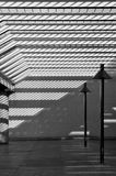 Modern courtyard in black and white Royalty Free Stock Photos