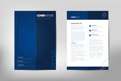 Modern Cover Annual Report Brochure - business brochure - Catalog Cover, flyer design, size A4, front page and back page Royalty Free Stock Photos
