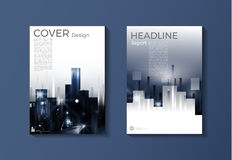 Modern cover blue template, design, annual report, magazine and Royalty Free Stock Image