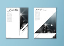 Modern cover Brochure template, design, annual report, magazine Royalty Free Stock Photo