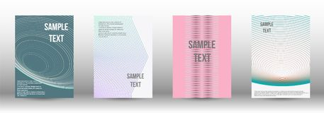 A modern cover design template. A set of modern abstract covers. Creative backgrounds from abstract gradient lines to create a trendy background for a banner vector illustration