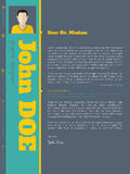 Modern cover letter cv resume template with vivid colors stock illustration