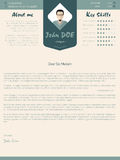 Modern cover letter design with details Stock Photo