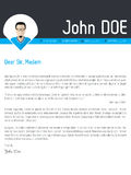 Modern cover letter resume cv template Stock Photo