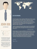 Modern cover letter template with business man Stock Images