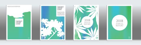Modern cover template. Cover design mockup. Gradient creative layout. Backdrop for corporate annual report, poster, magazine first page. Minimal leaflet Royalty Free Stock Images