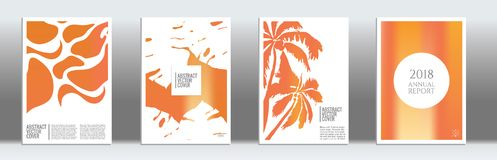 Modern cover template. Orange cover template. Wedding exotic layout. Background for corporate annual report, poster, magazine first page. Minimal leaflet Royalty Free Stock Image