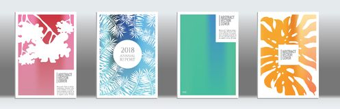 Modern cover template. Rainbow cover template. Wedding exotic layout. Background for corporate annual report, poster, magazine first page. Minimal leaflet Royalty Free Stock Photos