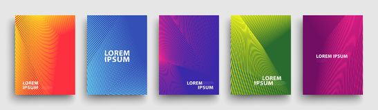 Modern Covers Template Design. Fluid colors. Set of Trendy Holographic Gradient shapes for Presentation, Magazines, Flyers. EPS 10. Simple Modern Covers Template royalty free illustration