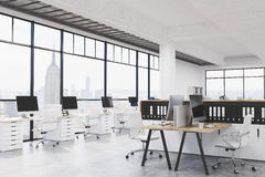 Modern coworking bureau royalty-vrije illustratie