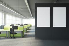 Modern coworking bureau met aanplakbord Stock Foto