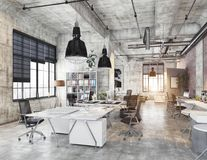 Modern coworking office Royalty Free Stock Photo