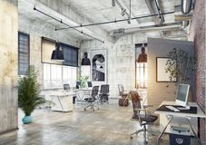 Modern coworking office Royalty Free Stock Photos