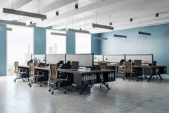 Modern coworking office interior stock illustration