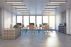 Modern coworking office with reception Stock Photos