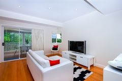 Modern and cozy living room Stock Images