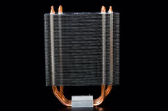 Modern CPU cooler Royalty Free Stock Photography
