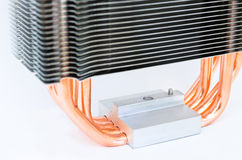Modern CPU cooler Royalty Free Stock Photos