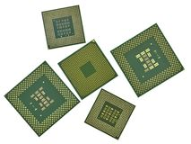 Modern CPU isolated on white Royalty Free Stock Photography