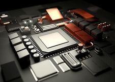 Modern CPU and Motherboard Stock Images