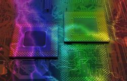 Modern cpu processors. Close up of cpu processors royalty free stock images