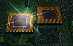 Modern cpu processors. Close up of cpu processors royalty free stock photo