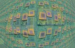 Modern cpu processors. Close up of cpu processors stock image
