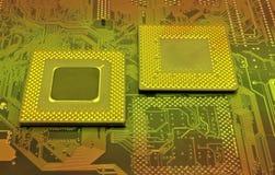 Modern cpu processors. Close up of cpu processors stock photography