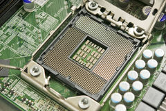 Modern CPU Socket Royalty Free Stock Images